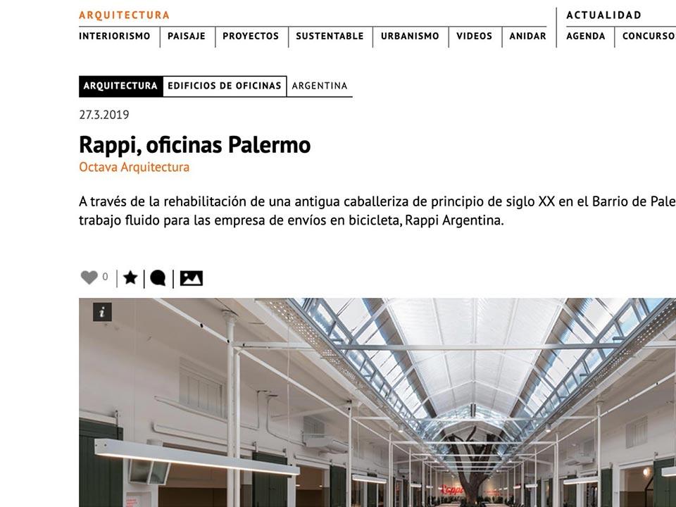 Artículo de Octava Arquitectura en Arqa / AR
