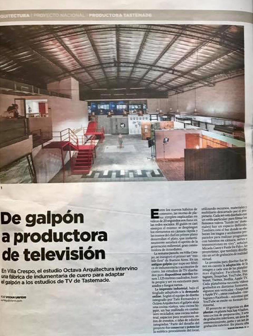 Artículo de Octava Arquitectura en Clarín